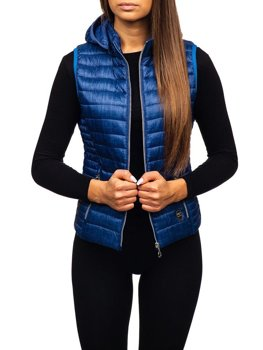 Women's Gilet Navy Blue Bolf AB042