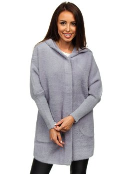 Women's Hooded Coat Grey Bolf 20658