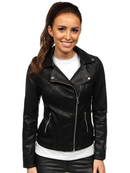 Women's Leather Biker Jacket Black Bolf 2059