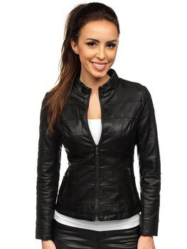 Women's Leather Jacket Black Bolf 2772