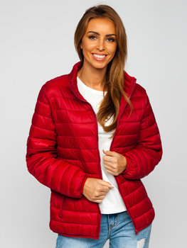 Women's Lightweight Quilted Jacket Claret Bolf 23037