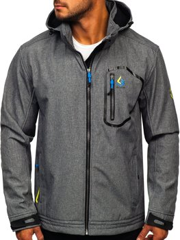 Women's Lightweight Softshell Jacket Grey-Blue Bolf AB006
