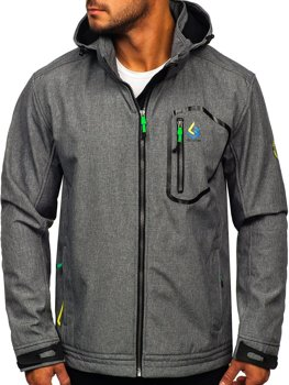 Women's Lightweight Softshell Jacket Grey-Green Bolf AB006