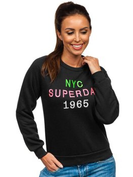 Women's Printed Sweatshirt Black Bolf KSW1001