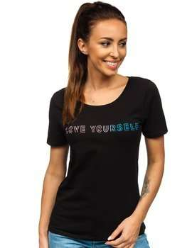 Women's Printed T-shirt Black Bolf EK205054