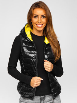 Women's Quilted Hooded Gilet Black Bolf R9549
