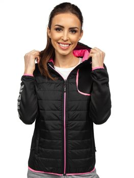 Women's Quilted Lightweight Hooded Jacket Black Bolf KSW4008