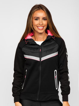 Women's Quilted Lightweight Hooded Jacket Black Bolf KSW4012