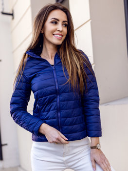 Women's Quilted Lightweight Jacket Blue Bolf 20311