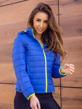 Women's Quilted Lightweight Jacket Light Blue Bolf AB054