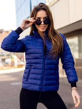 Women's Quilted Lightweight Jacket Navy Blue Bolf 1141