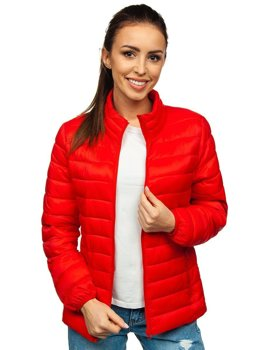 Women's Quilted Lightweight Jacket Red Bolf 20311