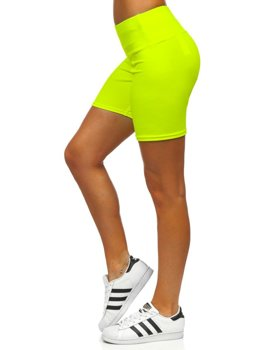 Women's Short Leggings Yellow-Neon Bolf 54548