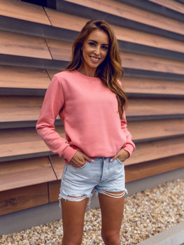 Women's Sweatshirt Dark Pink Bolf W01