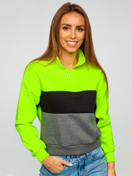 Women's Sweatshirt Green-Neon Bolf KSW2021