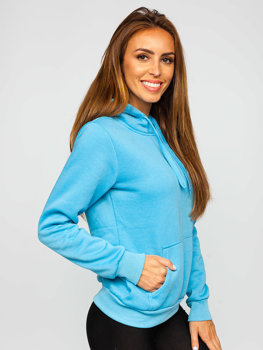 Women's Sweatshirt Light Blue Bolf W02