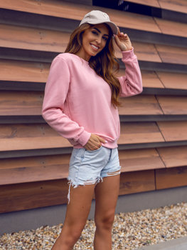 Women's Sweatshirt Light Pink Bolf W01