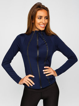 Women's Sweatshirt Navy Blue Bolf HH020