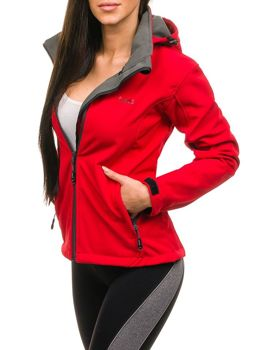 Women's Transitional Softshell Jacket Red Bolf B056