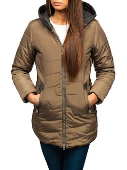 Women's Winter Jacket Beige Bolf TP01