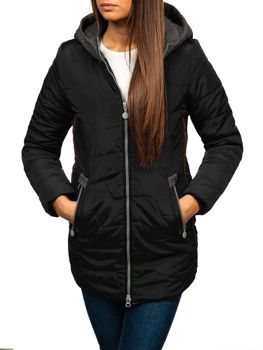 Women's Winter Jacket Black Bolf TP01