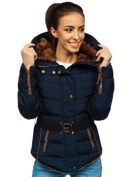 Women's Winter Jacket Navy Blue Bolf 11