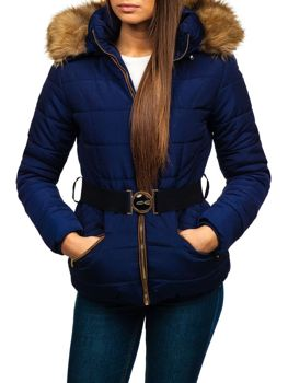 Women's Winter Jacket Navy Blue Bolf 17