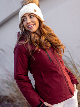 Women's Winter Ski Jacket Claret Bolf HH012