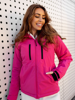 Women's Winter Ski Jacket Dark Pink Bolf HH012