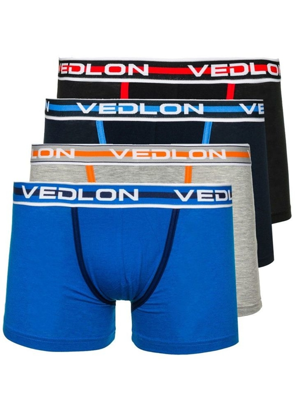 4 PACK Multicolour Men's Boxer Briefs Bolf V09