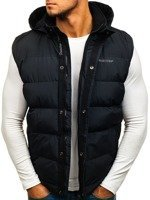 Black Men's Hooded Vest Bolf 8260