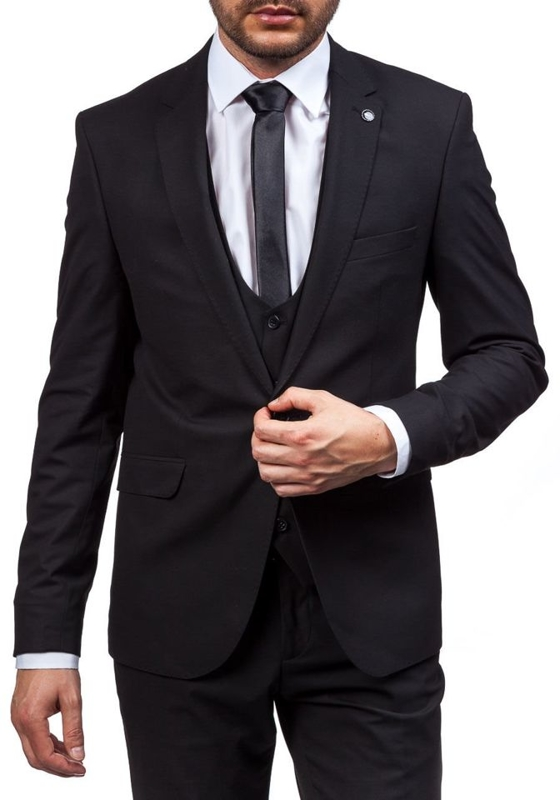 Black Men's Suit Bolf 5005-1