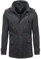 Black Men's Winter Coat Bolf 1052