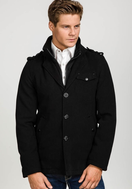 Black Men's Winter Coat Bolf 1690