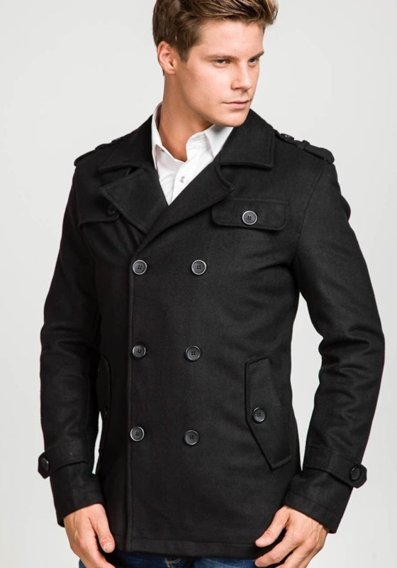 Black Men's Winter Coat Bolf 306