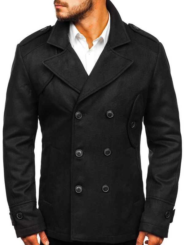 Black Men's Winter Coat Bolf 3118