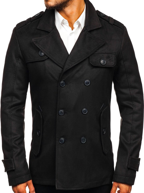 Black Men's Winter Coat Bolf 3123