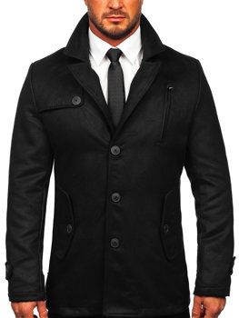 Black Men's Winter Coat Bolf 3127