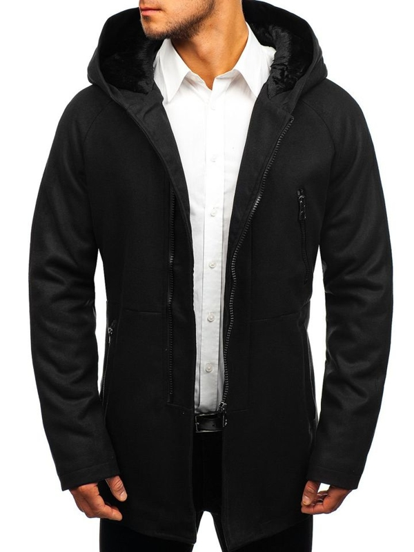 Black Men's Winter Coat Bolf 3128