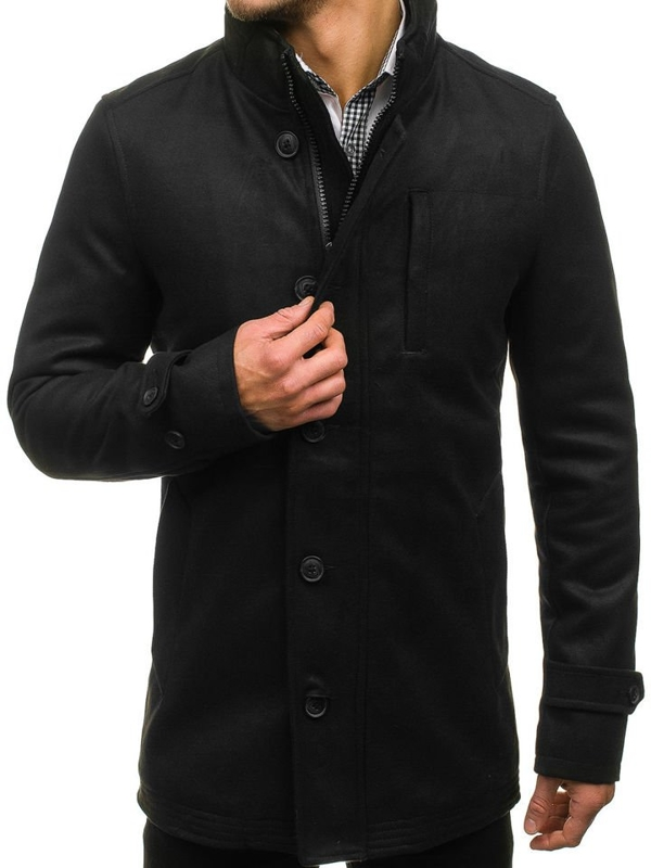Black Men's Winter Coat Bolf 3129