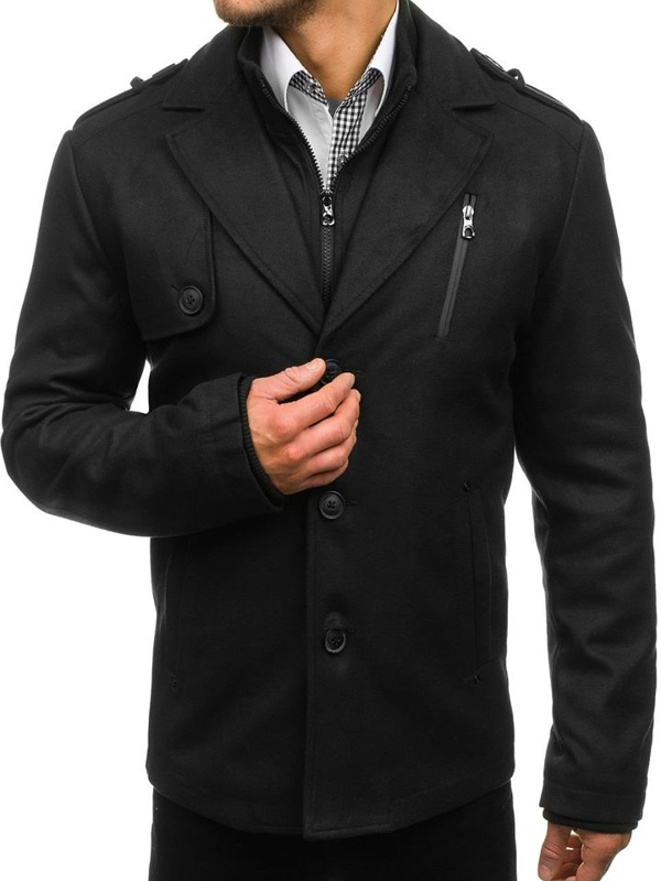 Black Men's Winter Coat Bolf 3131