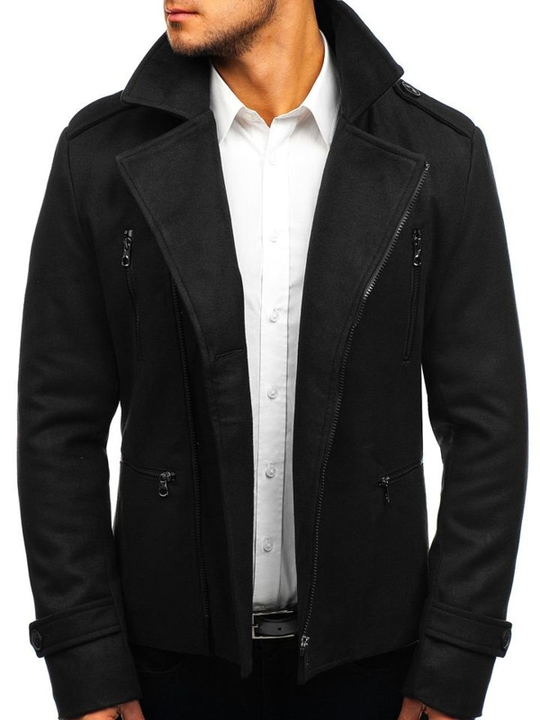 Black Men's Winter Coat Bolf 3133