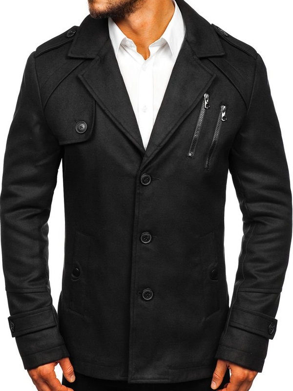 Black Men's Winter Coat Bolf 3135