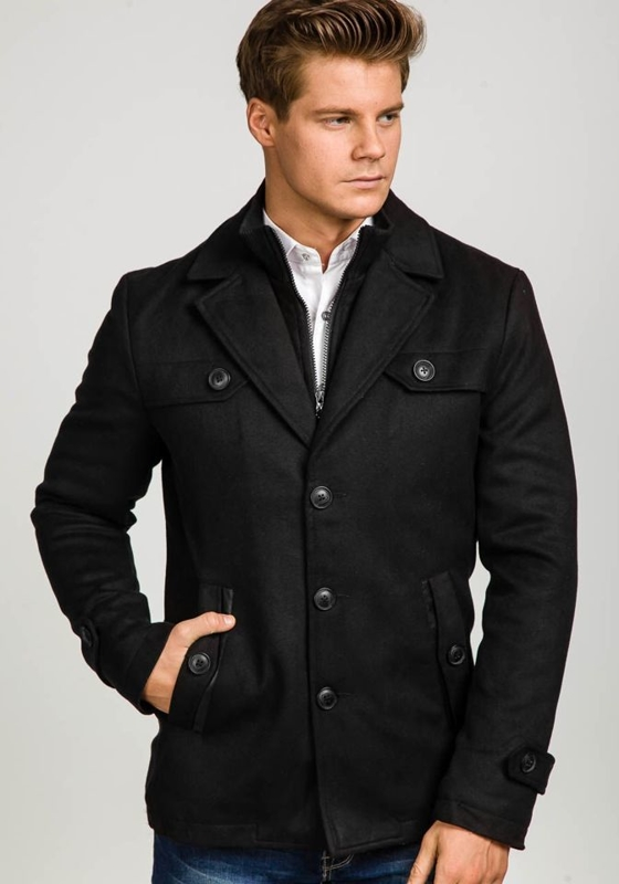Black Men's Winter Coat Bolf 3141