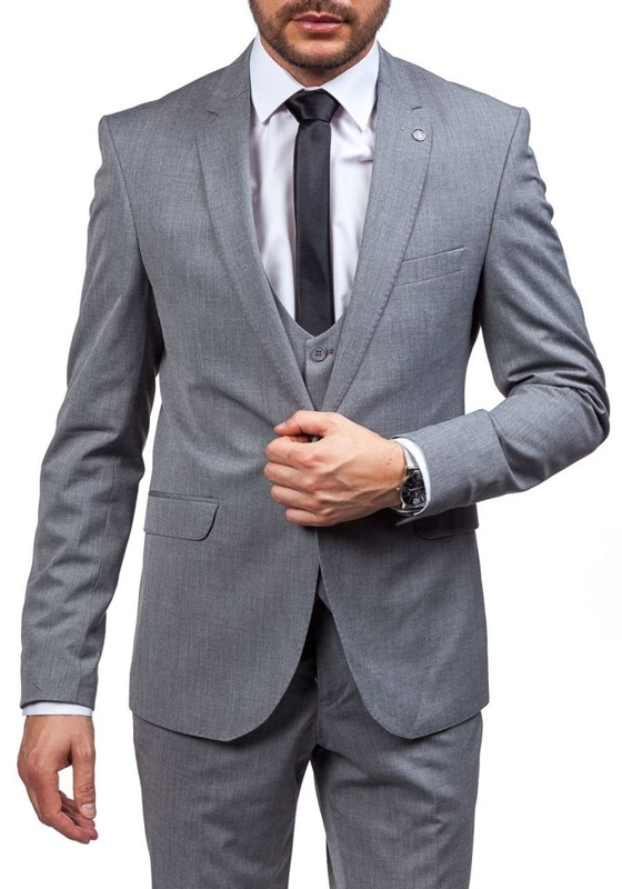 Grey Men's Suit Bolf 5005