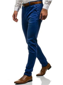 Men's Chino Trousers Navy Blue Bolf 7315