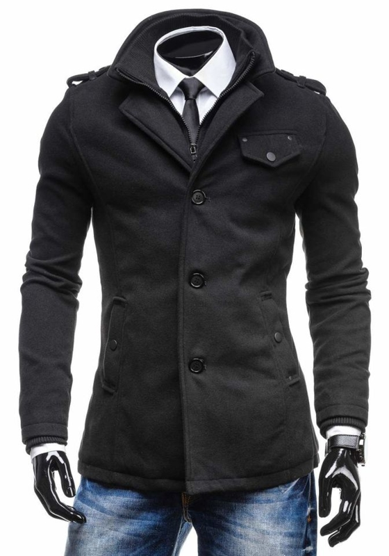 Men's Coat Black Bolf 8853C