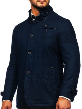 Men's Coat Navy Blue Bolf EX66A
