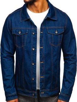 Men's Denim Jacket Navy Blue Bolf 1110