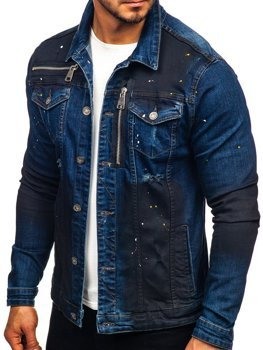 Men's Denim Jacket Navy Blue Bolf 5015